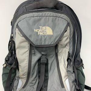Northface Surge Backpack Gray and Black